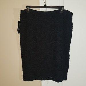 Jones New York Black Pencil Skirt